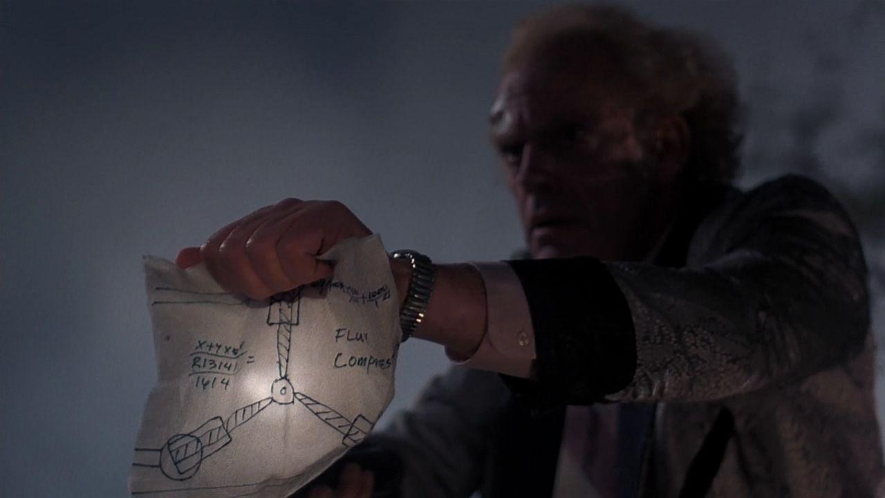 """Fluxkompensator - Screenshot aus dem Film """"Zurück in die Zukunft"""""""